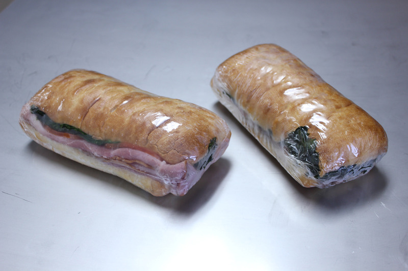 sub sandwiches shrink wrapped